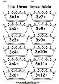 Multiplication worksheets 2 and 3 digits. Timestables 2 and 3 ...